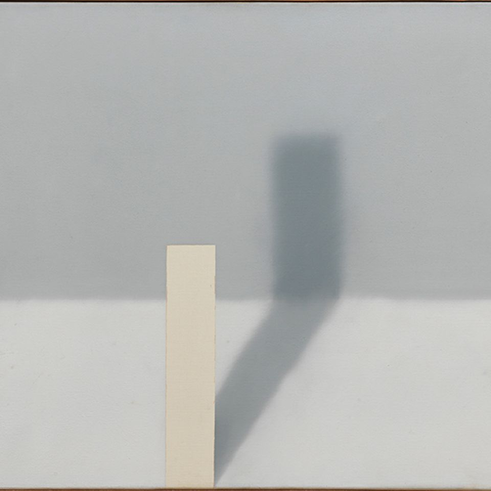 Gerhard Richter's Schattenbild (Beams) (1968) on three canvases—a highlight of his brief series of shadow paintings, which played with illusionism