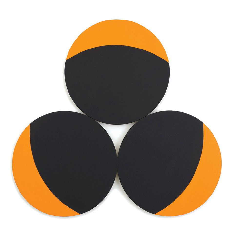 Leon Polk Smith, Constellation - Orange, Black Circles (1968)