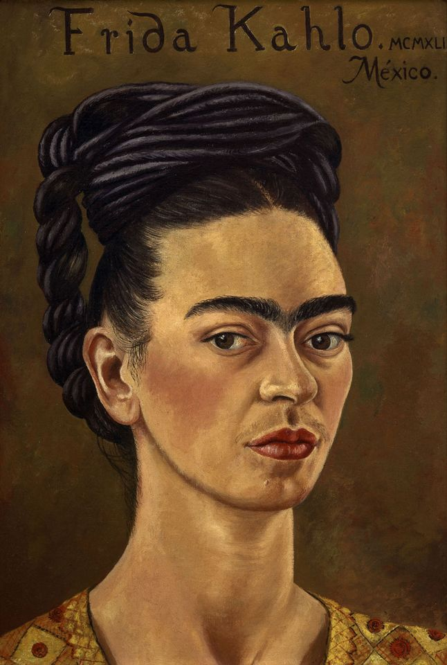 Frida Kahlo, Self-Portrait with Red and Gold Dress (1941)