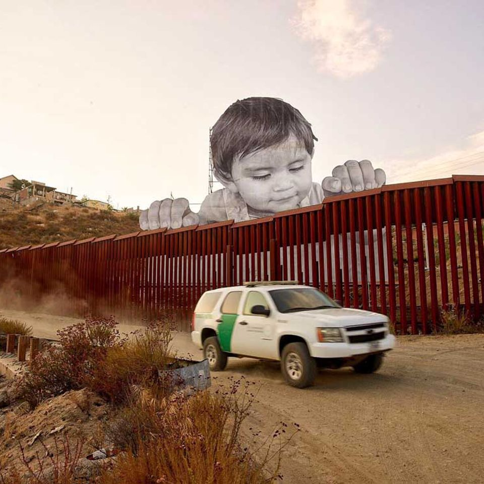 JR's work on the US/Mexico border