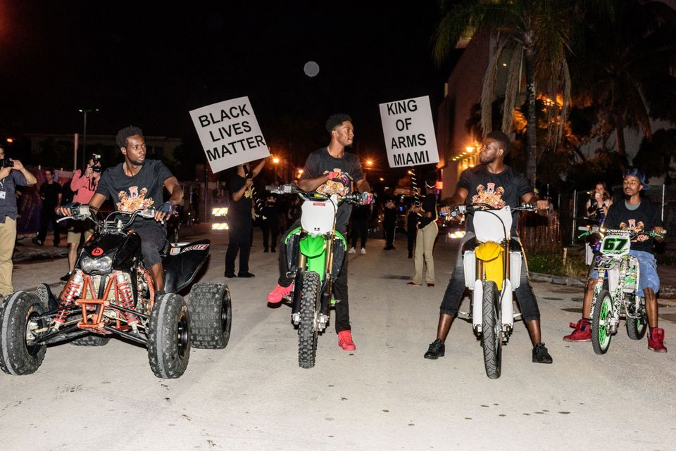 Rashaad Newsome's King of Arms Parade in Miami in 2015