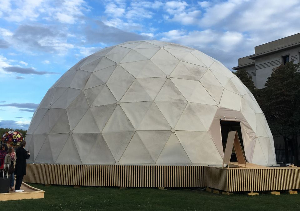 Richard Buckminster Fuller's Radôme (1957) in Place Antonin Poncet, Lyon