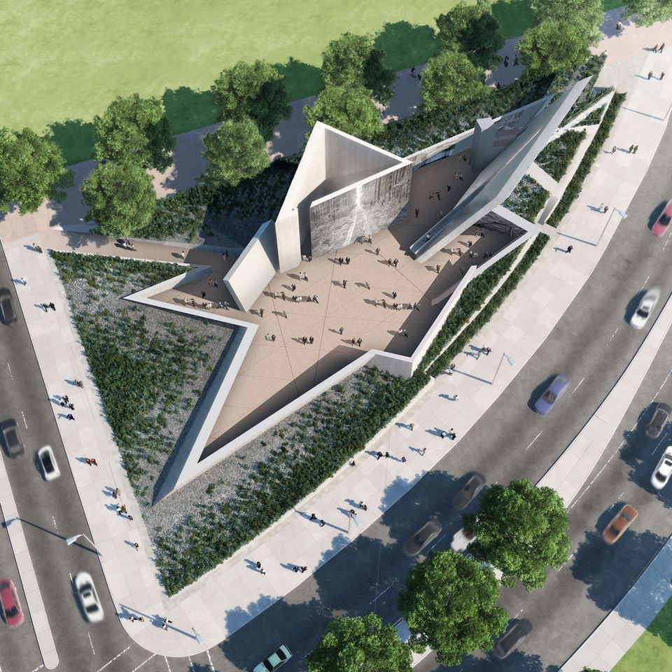 Rendering of Canada's new National Holocaust Monument
