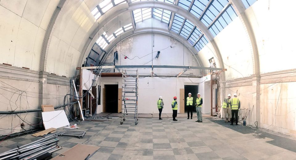 During the gallery's £4m makeover, workers discovered a Victorian glazed roof that had been hidden for decades above a false ceiling