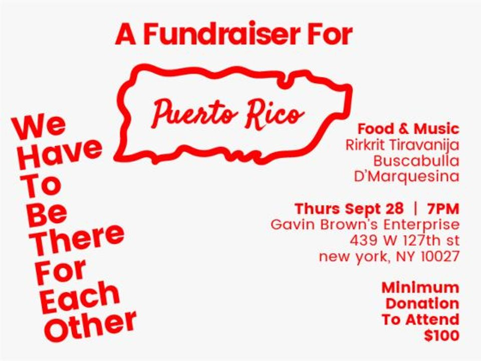 We Have to Be There for Each Other, a fundraiser for Puerto Rico hurricane disaster relief