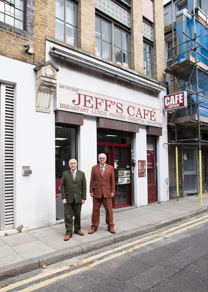 Gilbert & George at Jeff's Cafe