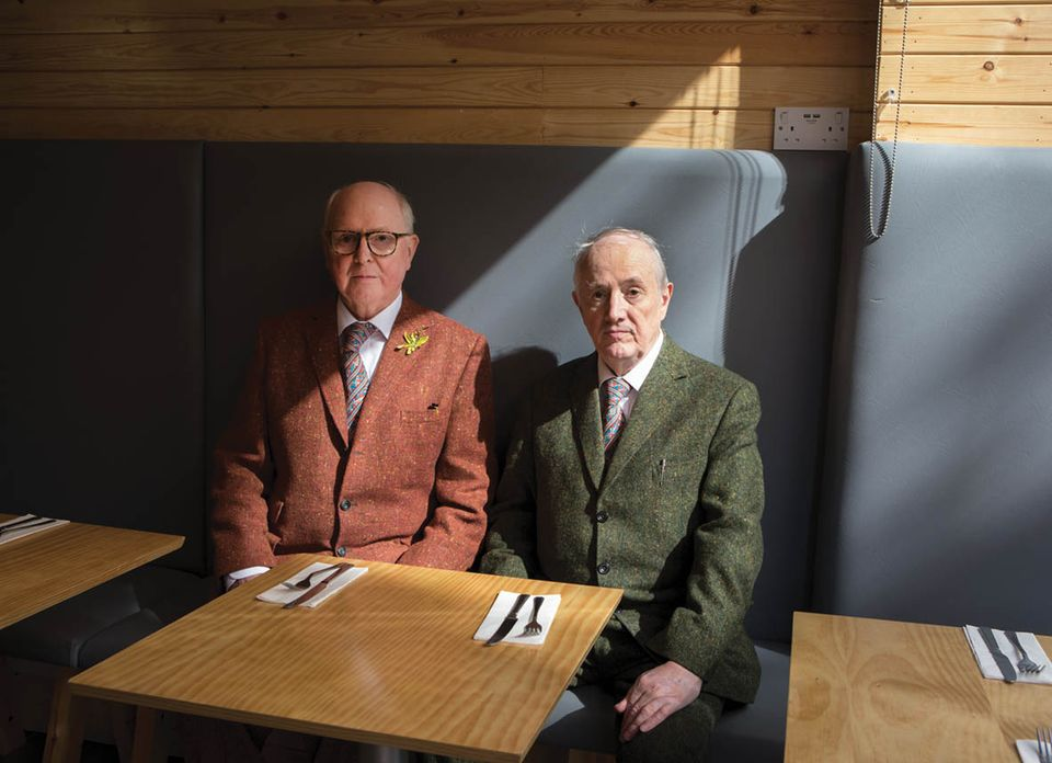 Gilbert & George at Meraz Cafe