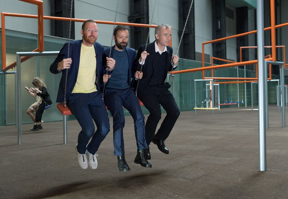 Superflex gets into the swing of things in the Turbine Hall where the Hyundai Commission: One Two Three Swing! opened this week