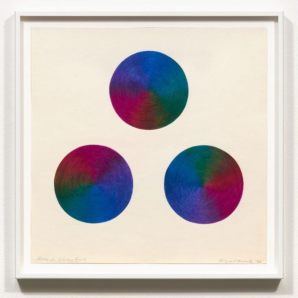 Judy Chicago, Study for Whirling Donuts (1968)