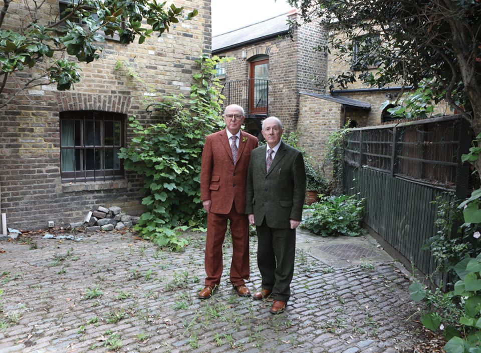 Gilbert (right) and George plan to host large-scale shows in the building