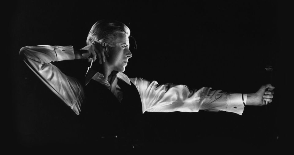 David Bowie, The Archer, Station to Station tour (1976). Photograph by John Robert Rowlands