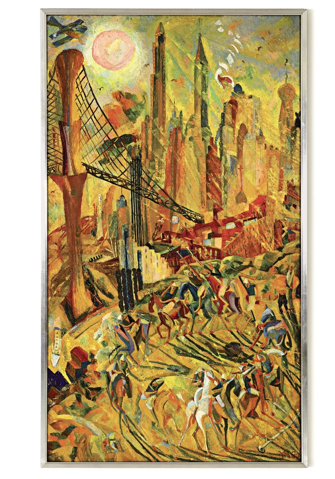 Wheels: Industrial New York by Yun Gee, sold for HK$105m (US$13.5m) at Sotheby's Hong Kong