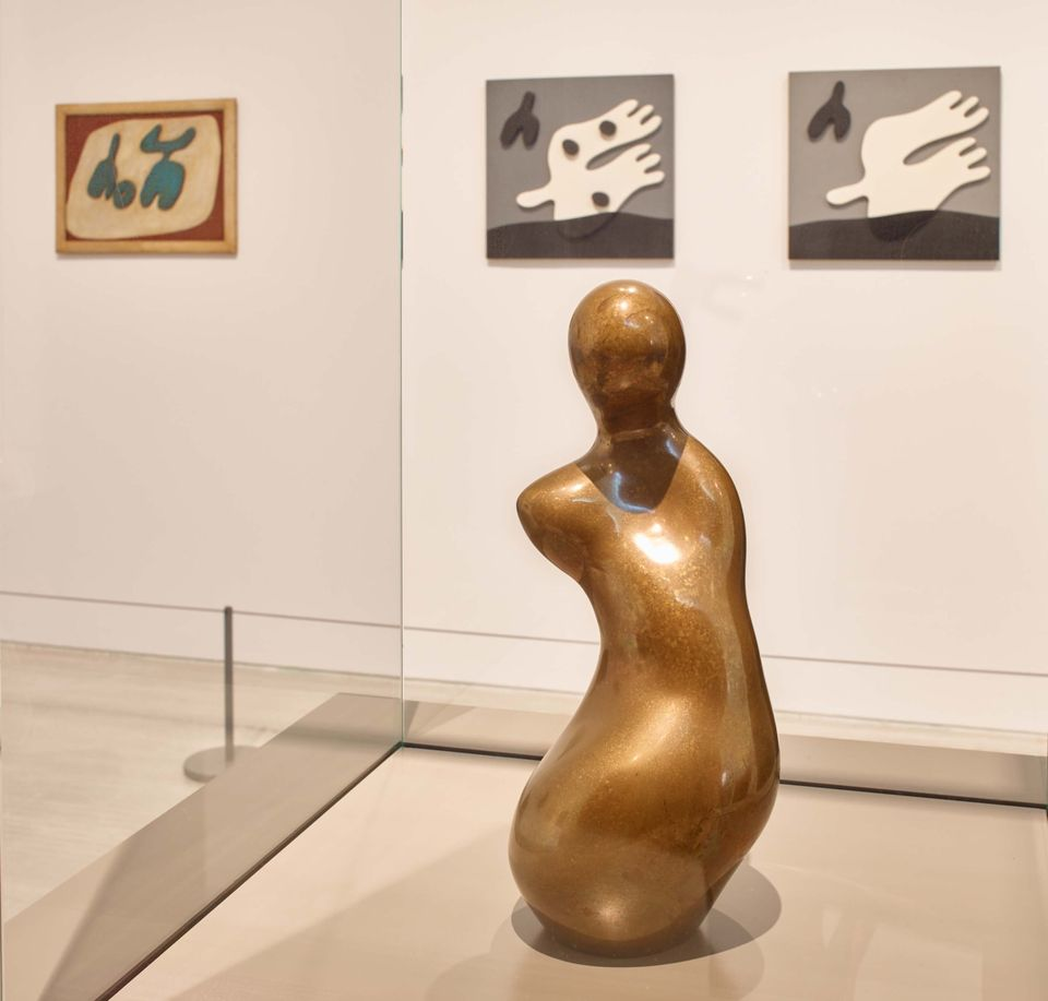 Installation view of Jean Arp: the Poetry of Forms at Turner Contemporary