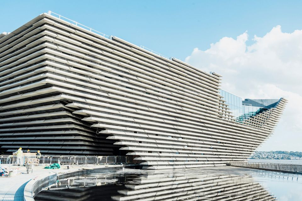 The V&A Museum of Design Dundee takes shape on the banks of the River Tay