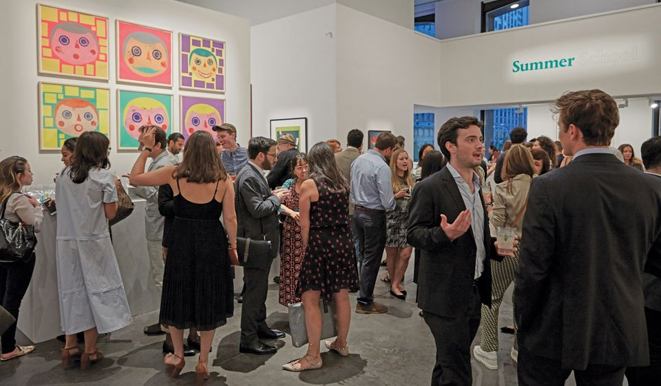 In July, Artsy and Phillips presented Summer School, a co-curated online auction that culminated in a party