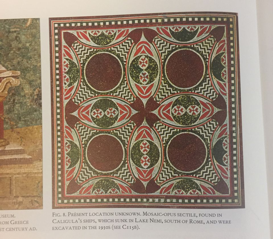 Mosaic floor from caligulas ship returned to italy the art the section of mosaic tile from caligulas ship was captioned geotapseo Gallery