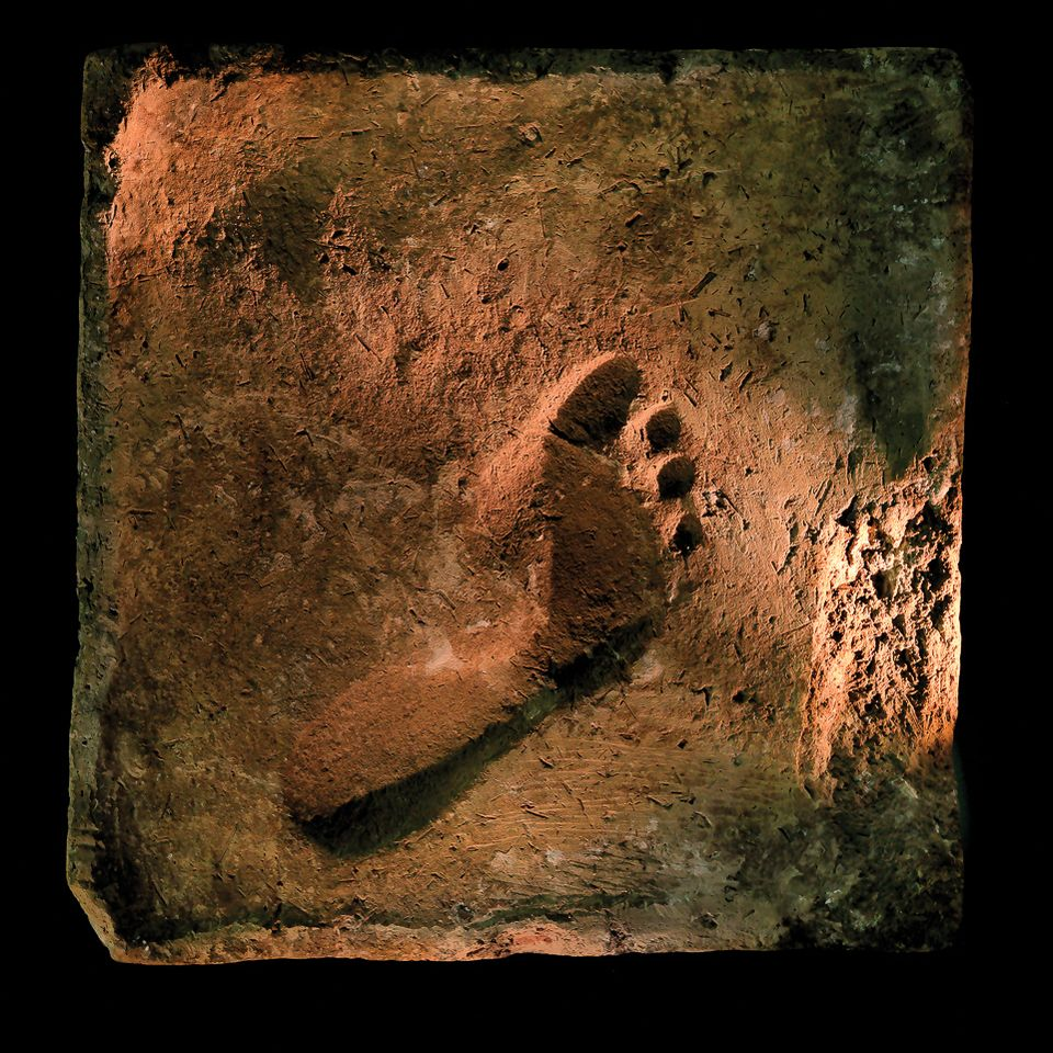 Best foot forward: a footprint from the ancient city of Ur in the Middle East galleries