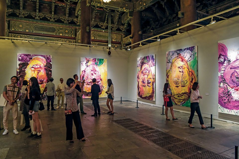 Works by Georg Baselitz travelled to Taimiao temple in Beijing for the Deutschland 8: German Art in China shows