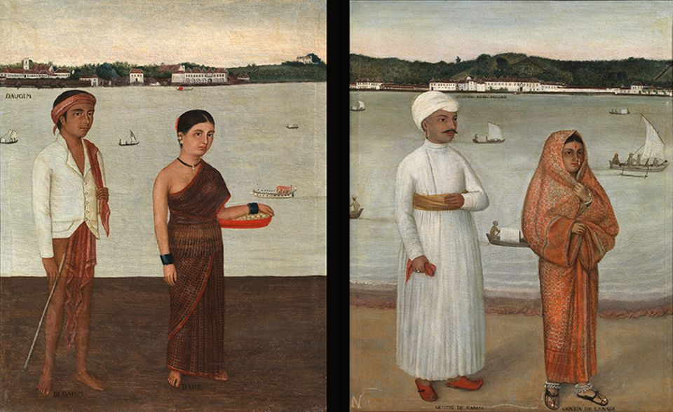 Two Views of Goa (around 1830s), attributed to José Maria Gonsalves