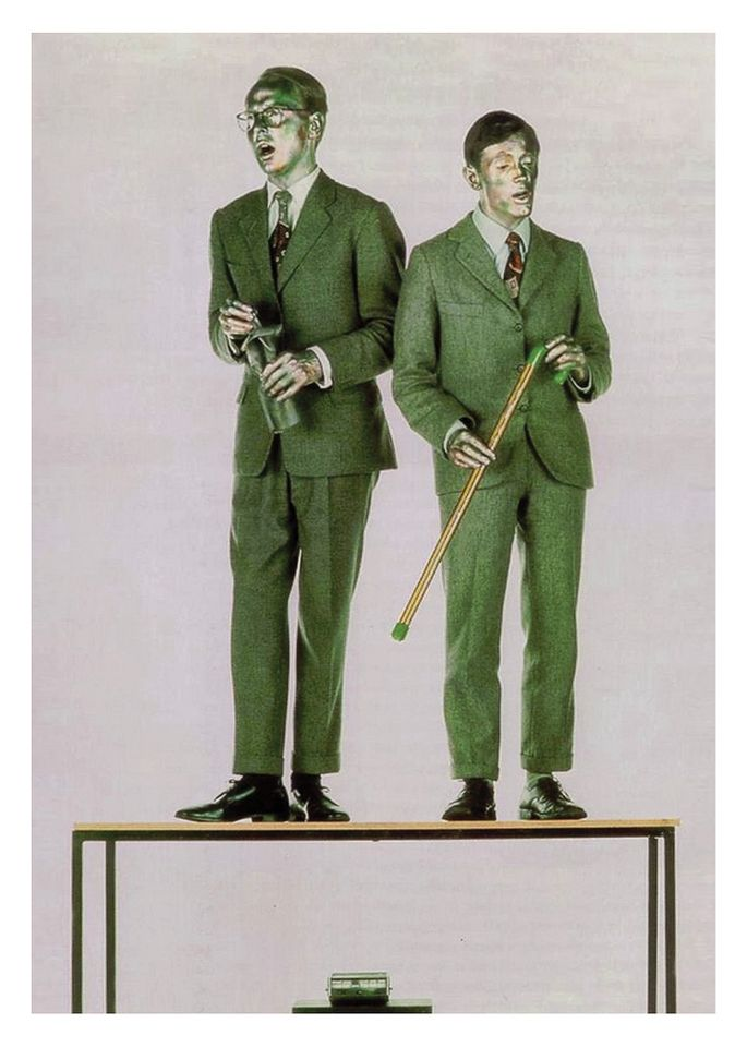 Gilbert & George, Singing Sculpture (1970)
