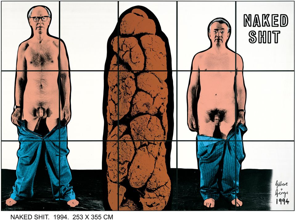 Gilbert & George, Naked Shit (1994)