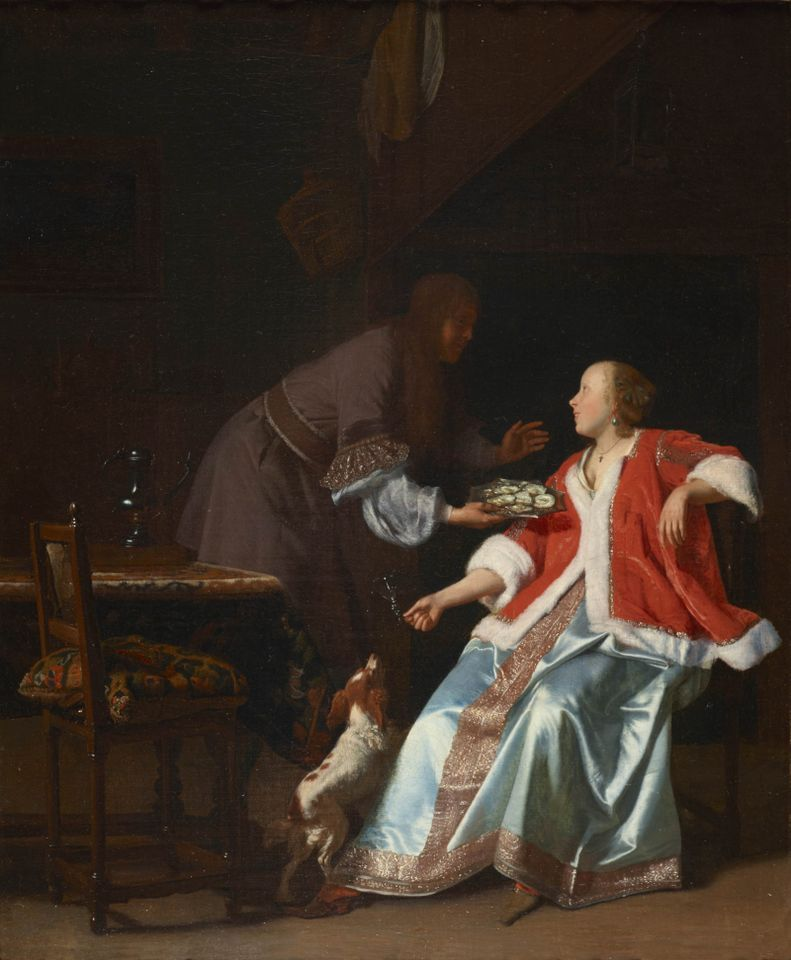 Jacob Ochtervelt's The Oyster Meal (around 1664-65)