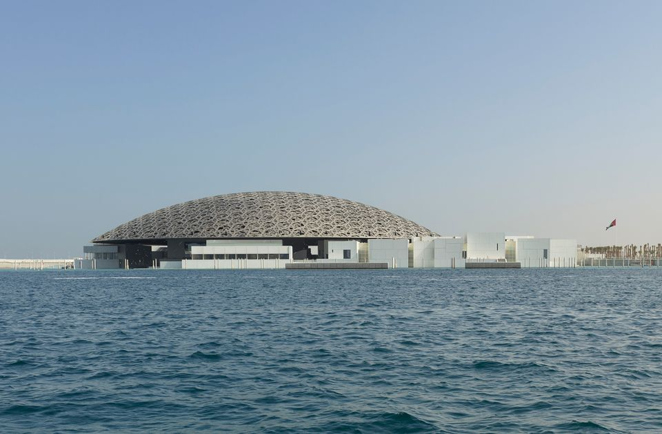 Exterior view of Louvre Abu Dhabi