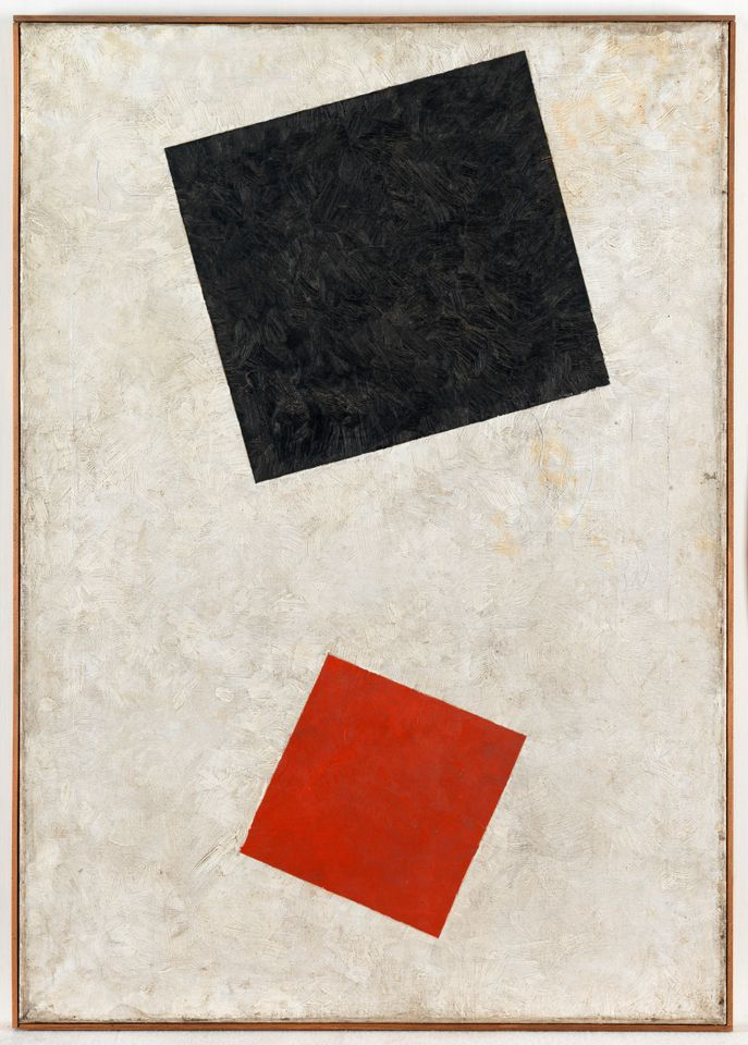 Black Rectangle, Red Square was originally dated at 1915