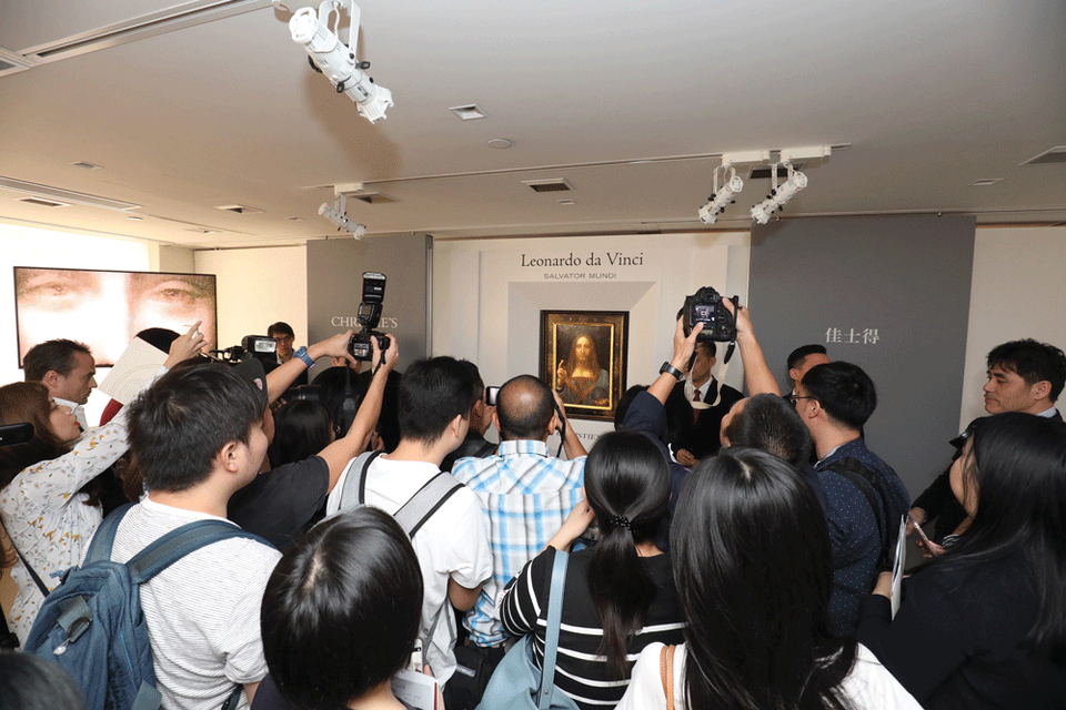 The painting travelled to Hong Kong ahead of the auction, suggesting that Christie's anticipates strong interest from East Asia