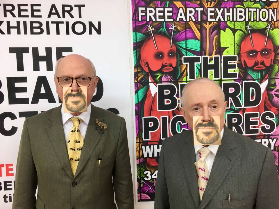 Gilbert & George bearded up