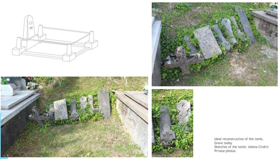 Wally's grave in Croatia today and the proposed reconstruction