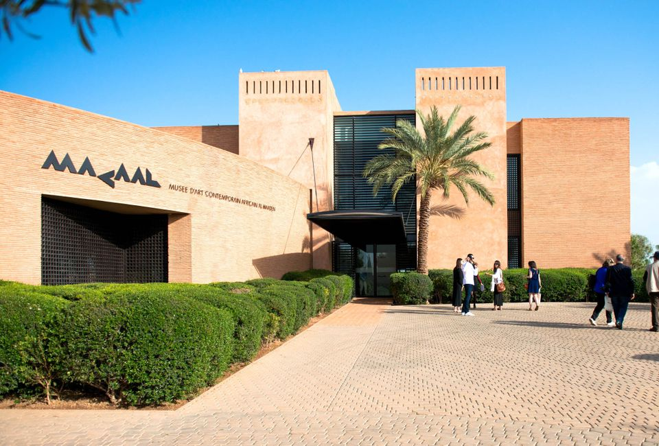 The Museum of African Contemporary Art Al Maaden in Marrakech