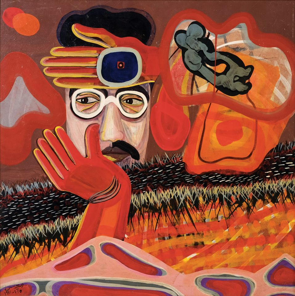 Aref Rayess's Blood and Freedom (1971), one of around 800 works in Emile Hannouche's private museum