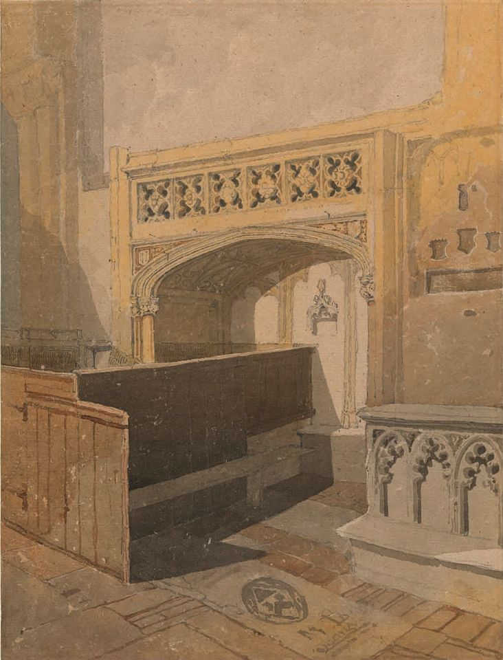 John Sell Cotman, Norwich Cathedral, the North Aisle of the Choir (around 1807-11), Lowell Libson