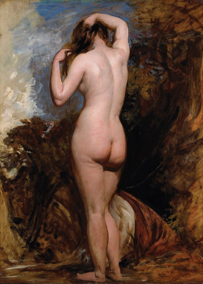 William Etty's Standing female nude from behind, at Tomasso Brothers