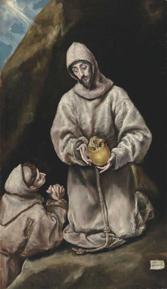 Saint Francis and Leo (around 1600) by El Greco