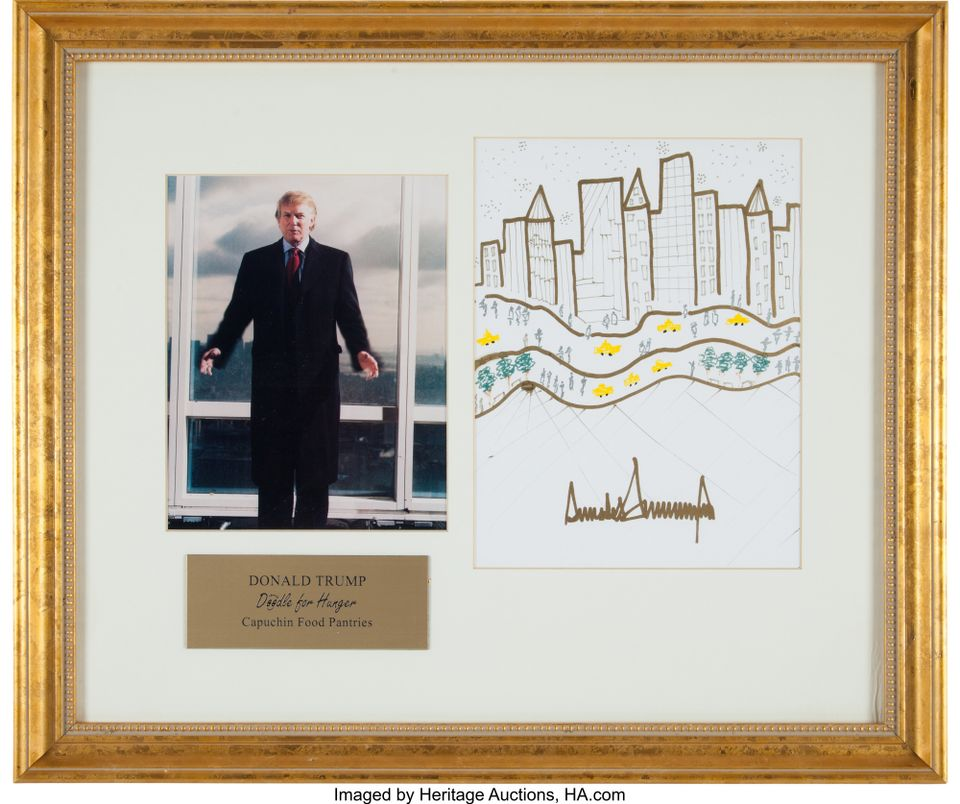 Donald Trump sketch to be sold at Heritage Auctions, Dallas
