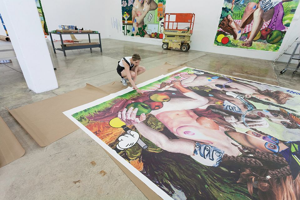 Alison Zuckerman at work at the Rubell Family Collection