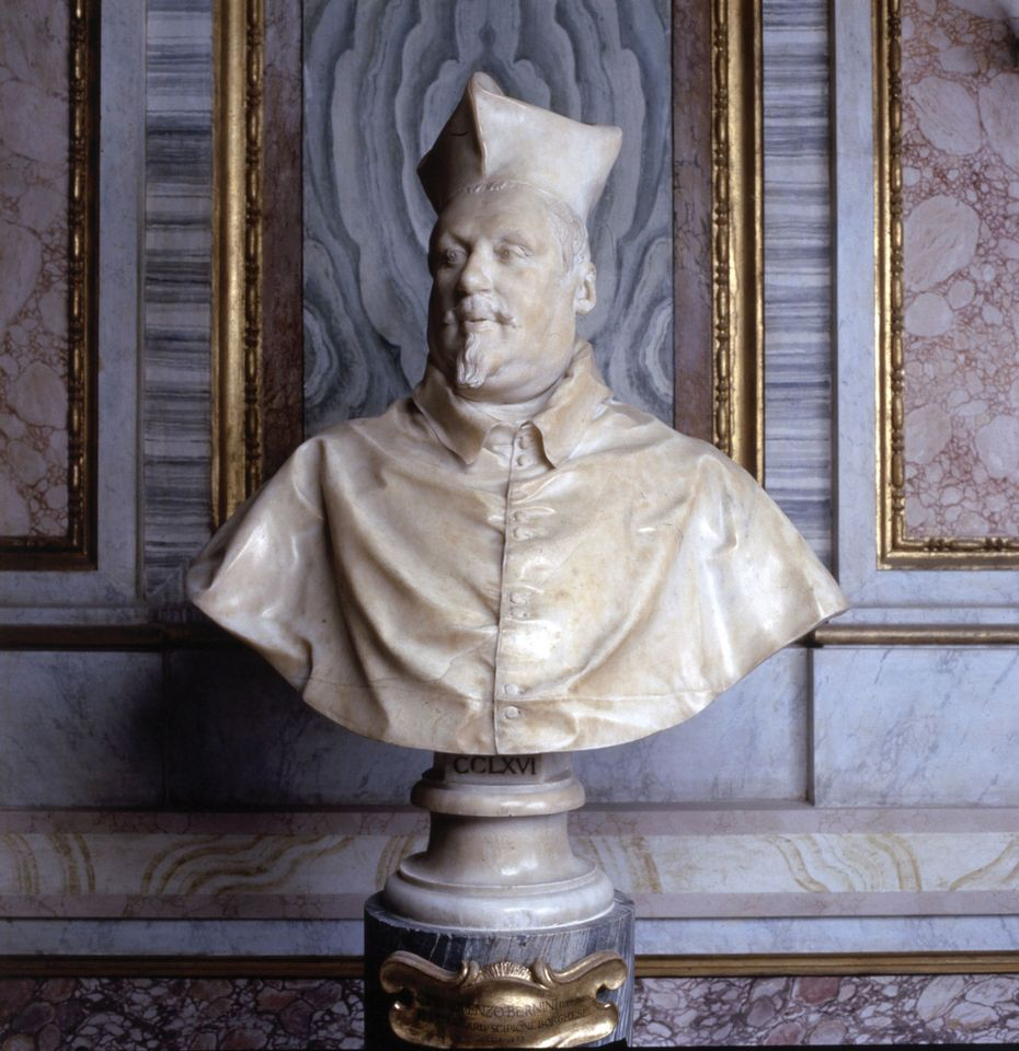 Bernini's bust of Cardinal Scipione Borghese (1632), his powerful first patron