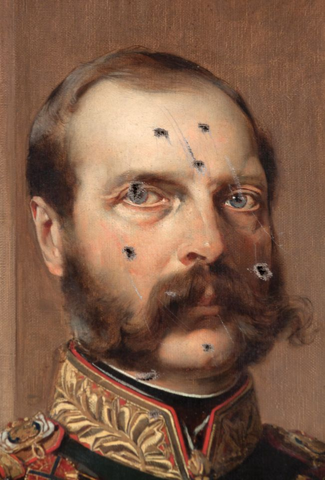 The bayonetted Portrait of Alexander II (1876)