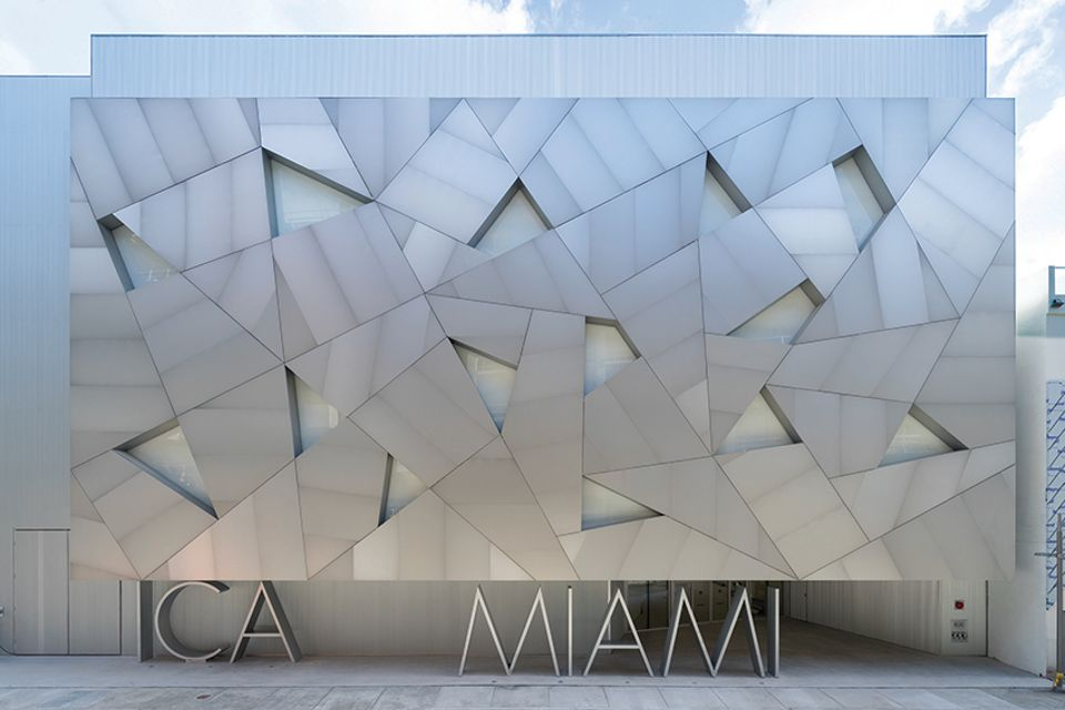 A new angle: the entrance to the ICA Miami's new venue in the city's Design District.