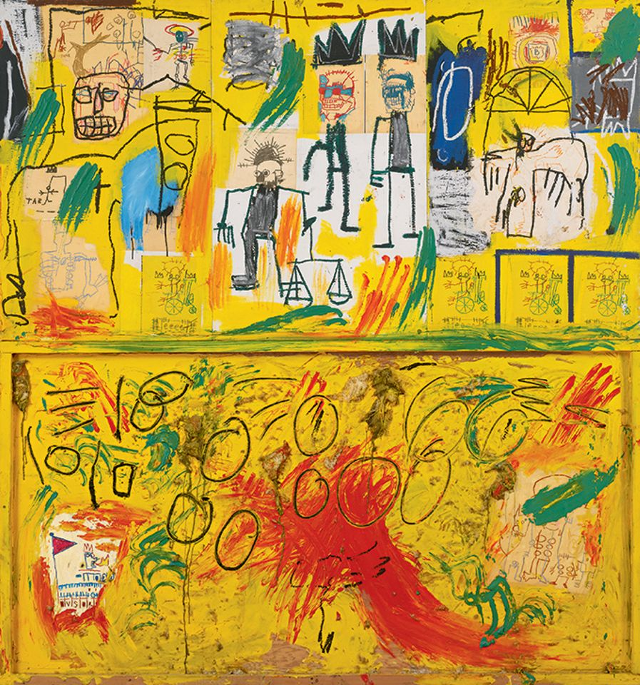 Untitled (Yellow Tar and Feathers) (1981) by Jean-Michel Basquiat