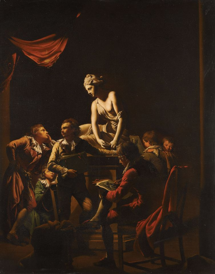 An Academy by Lamplight (1769) by Joseph Wright of Derby