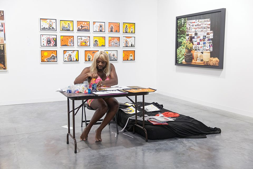 Kalup Linzy as Katonya at David Castillo Gallery during Art Basel Miami Beach 2017