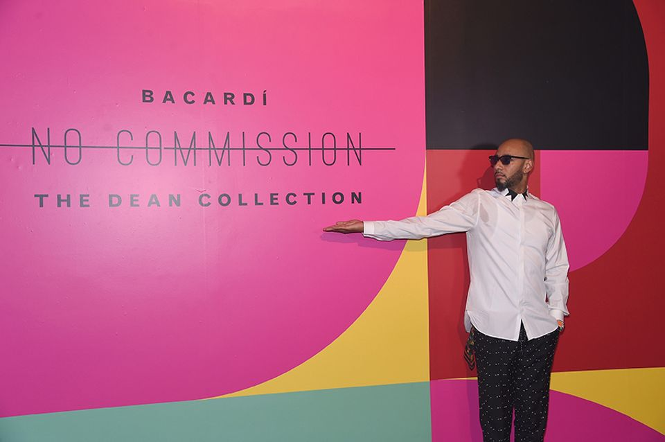 Swizz Beatz welcomes visitors to the No Commission fair.