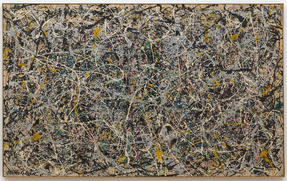 Jackson Pollock, Number 1, 1949, 1949, enamel and metallic paint on canvas, 63 x 102 1/2 in. (160.02 x 260.35 cm), The Museum of Contemporary Art, Los Angeles, The Rita and Taft Schreiber Collection, given in loving memory of her husband, Taft Schreiber, by Rita Schreiber