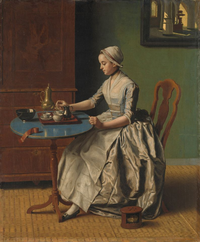 The Swiss artist Jean-Etienne Liotard's A Dutch Girl at Breakfast