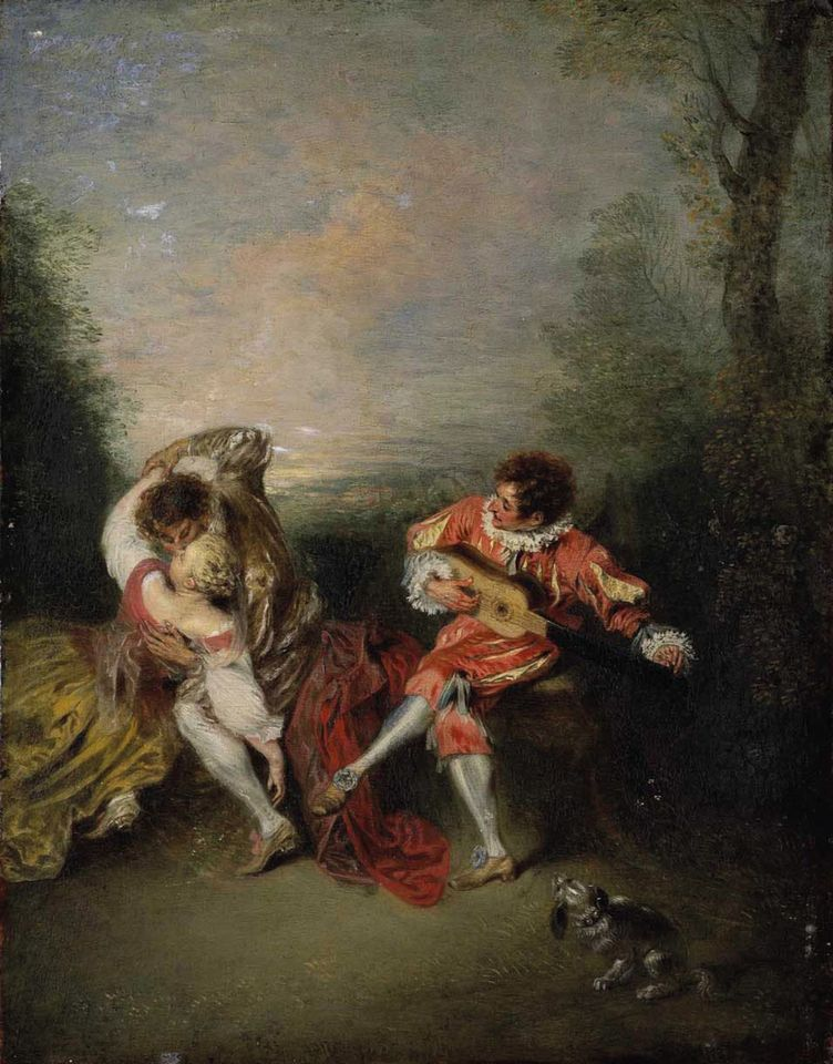 Jean Antoine Watteau, La Surprise (around 1718)