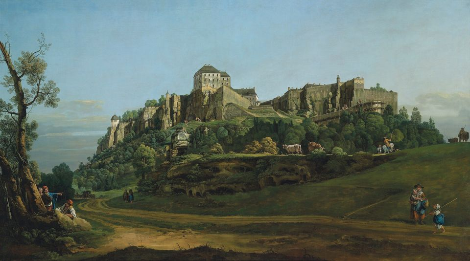 Bernardo Bellotto's The Fortress of Königstein from the North (1757)