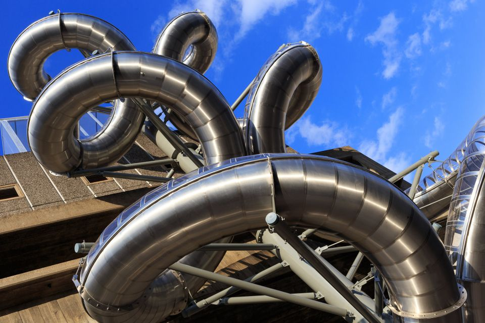 Carsten Höller's Isomeric Slides (2015) at the Hayward Gallery on South Bank, London